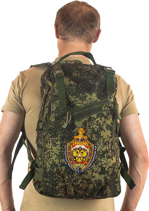 Рейдовый рюкзак камуфляж Цифра с эмблемой МВД оптом в Военпро