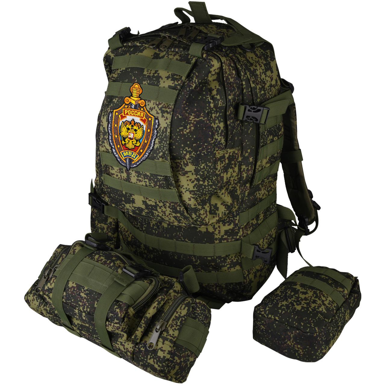 Рейдовый рюкзак на 50 литров с подсумками с эмблемой МВД