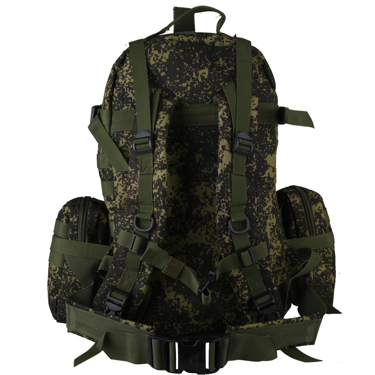 Рейдовый рюкзак на 50 литров с подсумками с эмблемой МВД заказать в Военпро