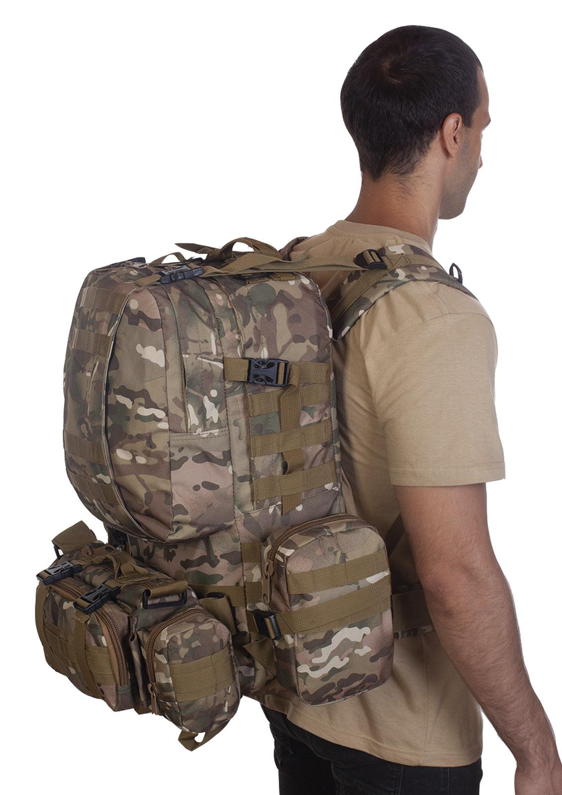 Рейдовый рюкзак с подсумками (45 литров, MultiCam)