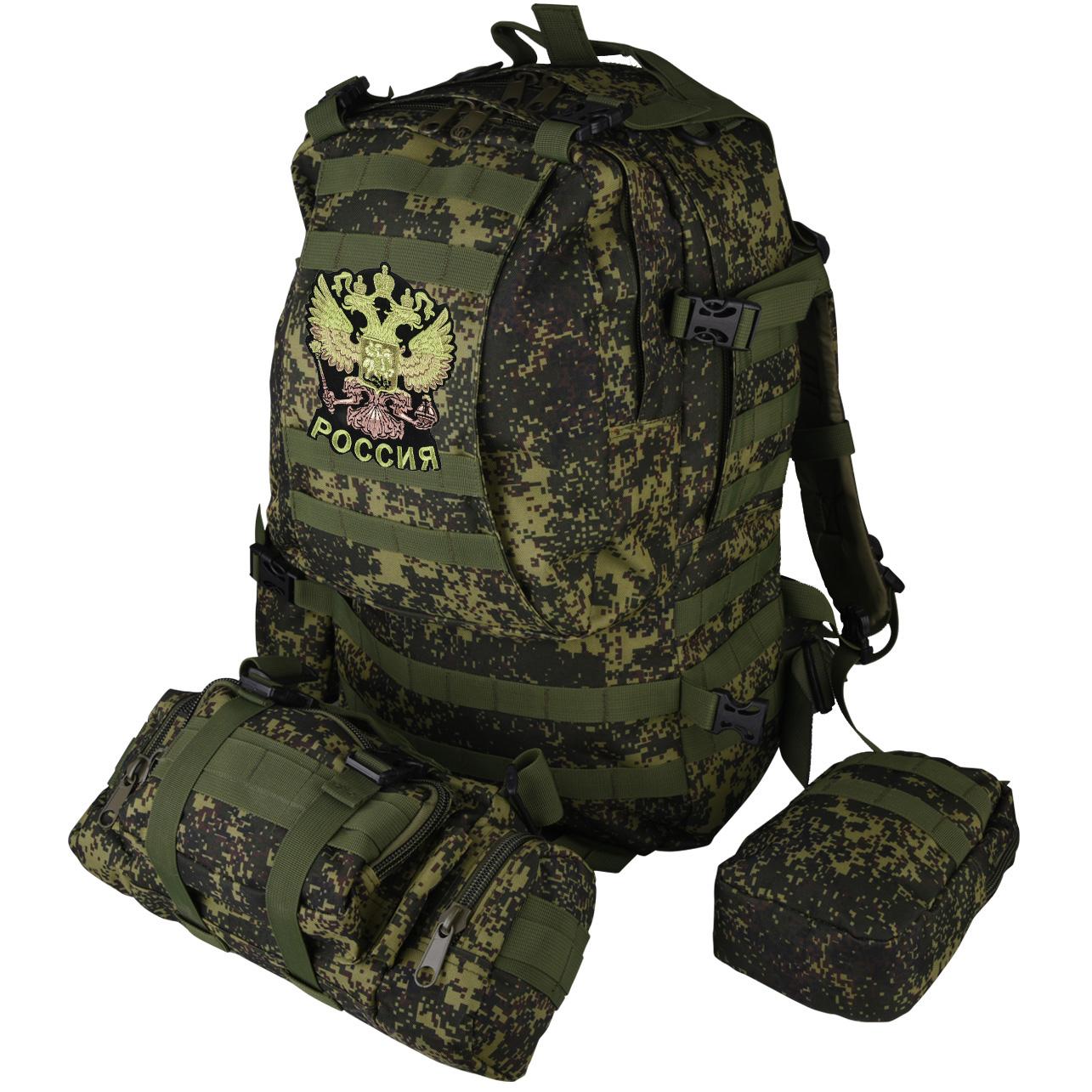Рейдовый стильный рюкзак с нашивкой Герб России - купить онлайн