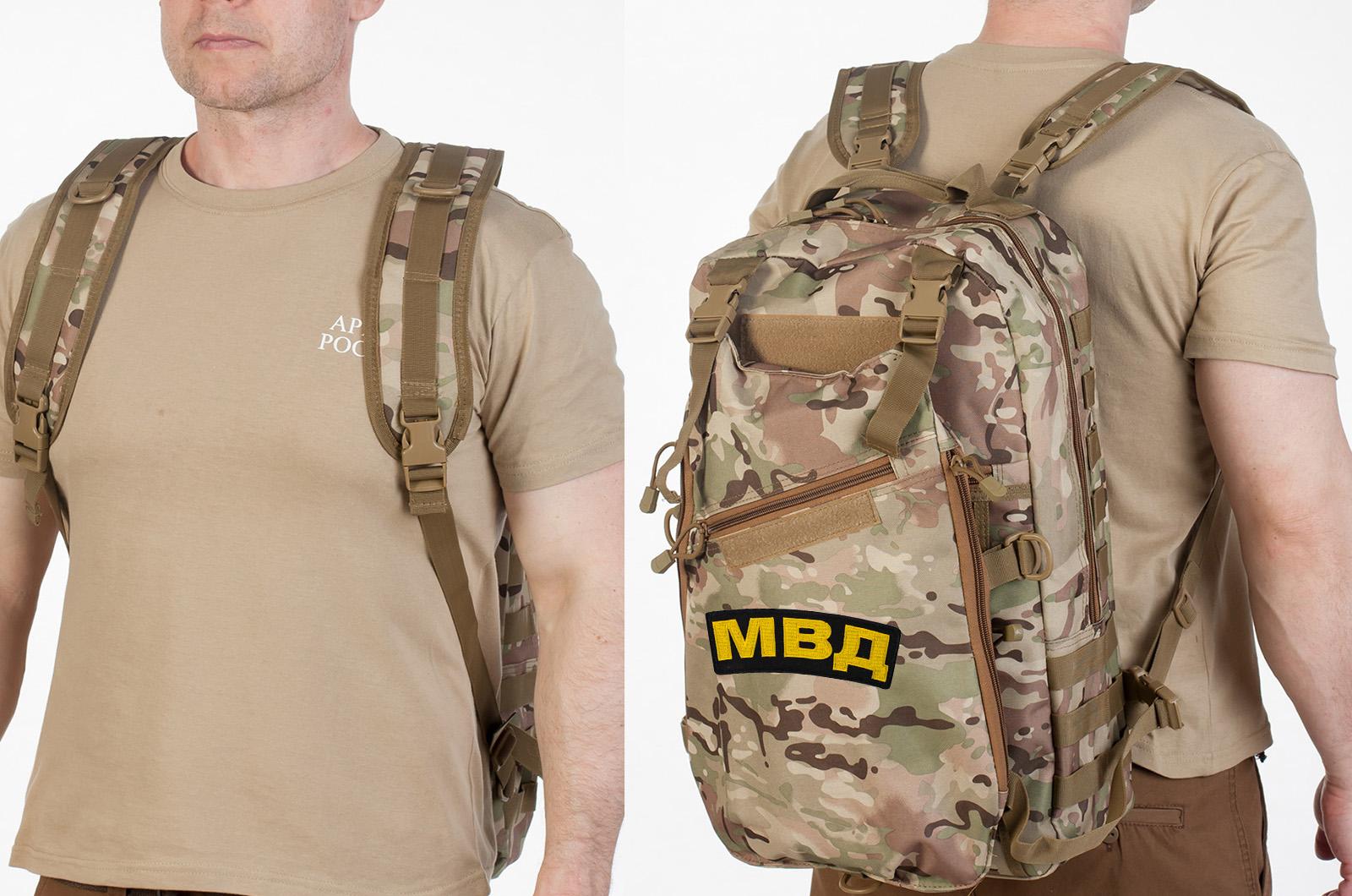 Рейдовый тактический рюкзак с нашивкой МВД - купить выгодно