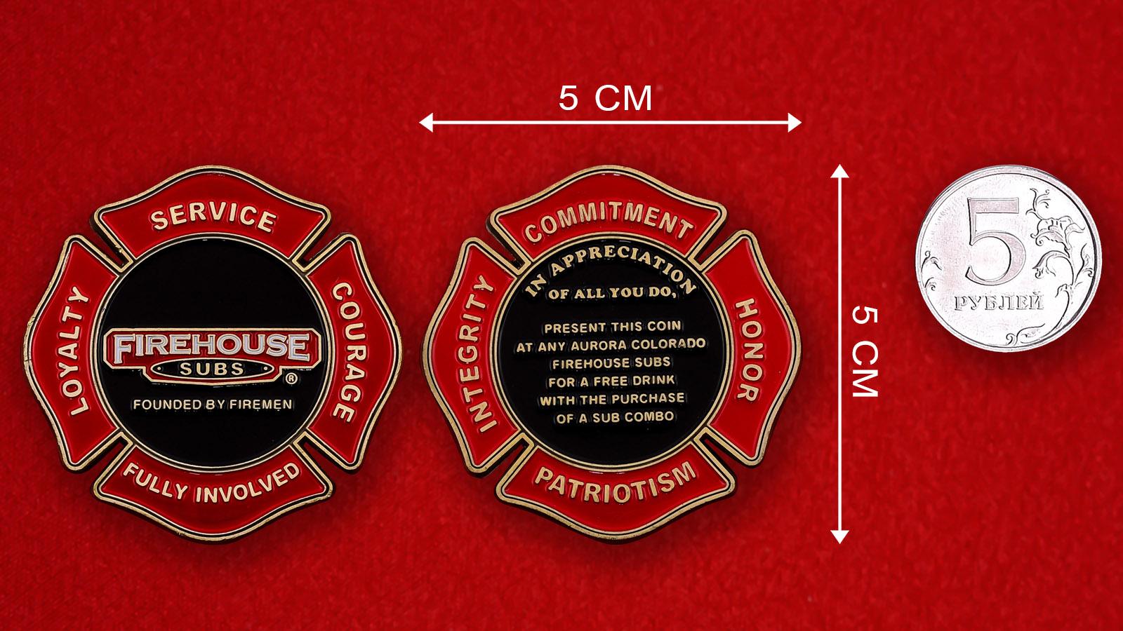 Рекламный знак сети ресторанов быстрого питания Firehouse Subs