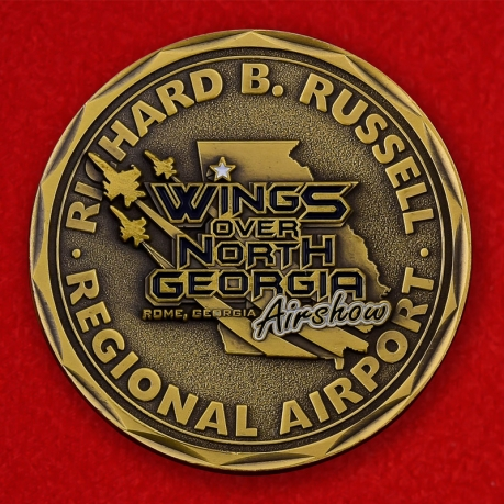 "Richard B. Russel Regional Airport ""Wings Over North Georgia"" Show Challenge Coin - obverse"