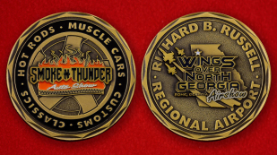 "Richard B. Russel Regional Airport ""Wings Over North Georgia"" Show Challenge Coin - both sides"