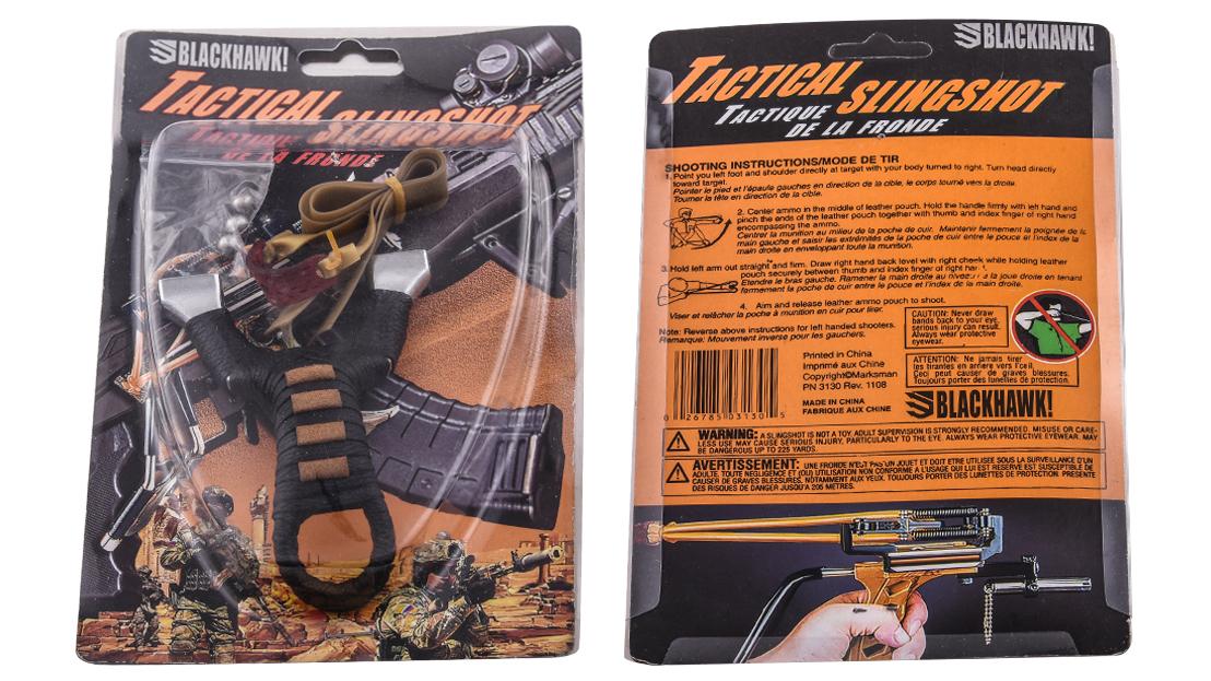 Тактическая рогатка из металла с кожаной обмоткой