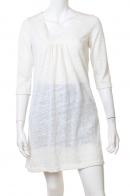 Романтичное белое платьице с декольте