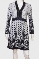 Романтичное черно-белое платье-туника от бренда ZB
