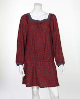 Романтичное платье-клеш с декольте