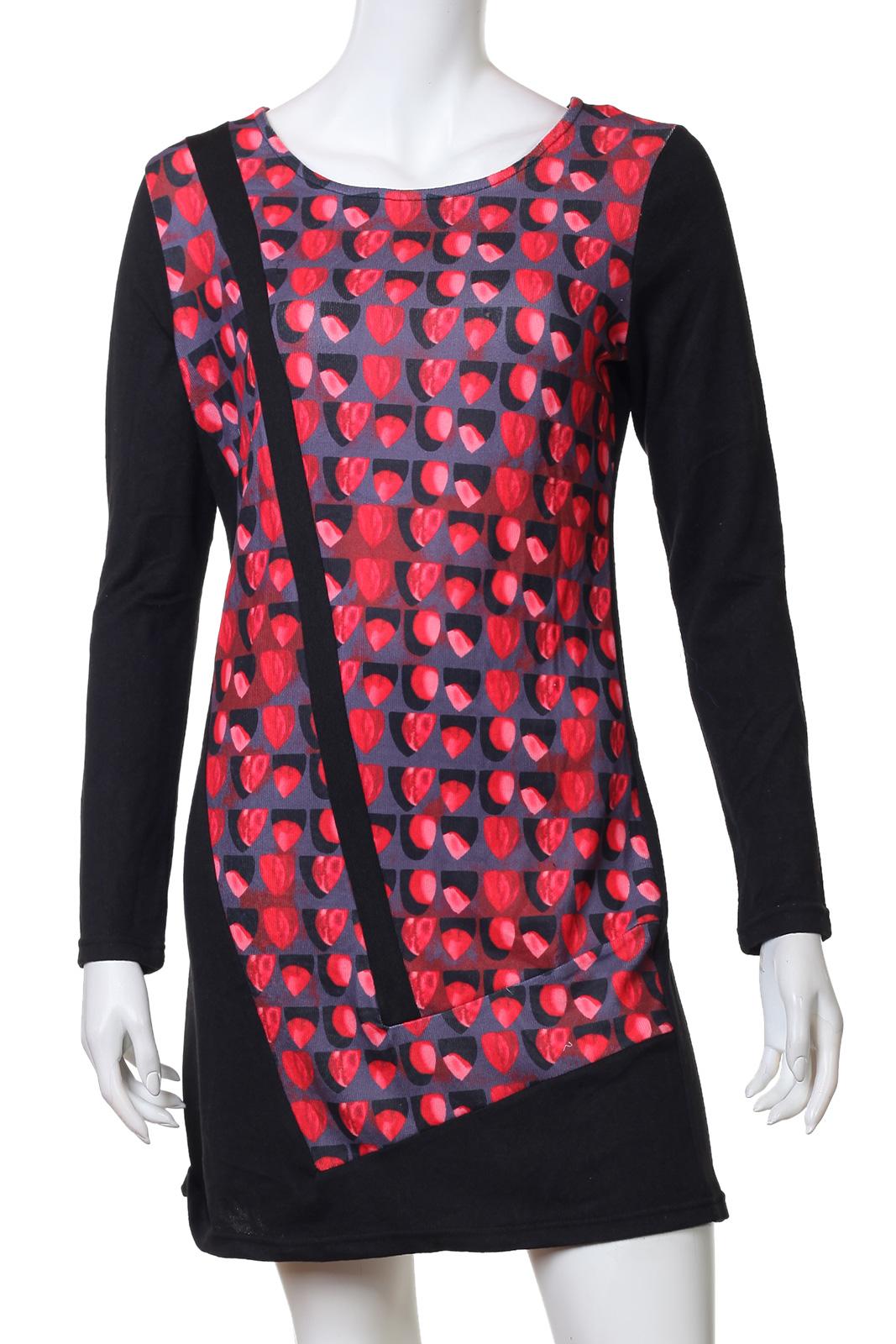 Романтичное платье с нежно-коралловым принтом