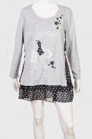 Романтичное серое платье-туника от Le Grenier