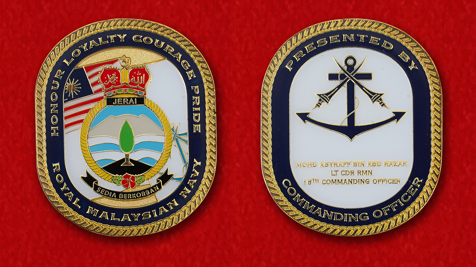 Royal Malaysian Navy By Commanding Officer KD Razak Challenge Coin