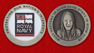 Royal NAVY Challenge Coin - obverse and reverse