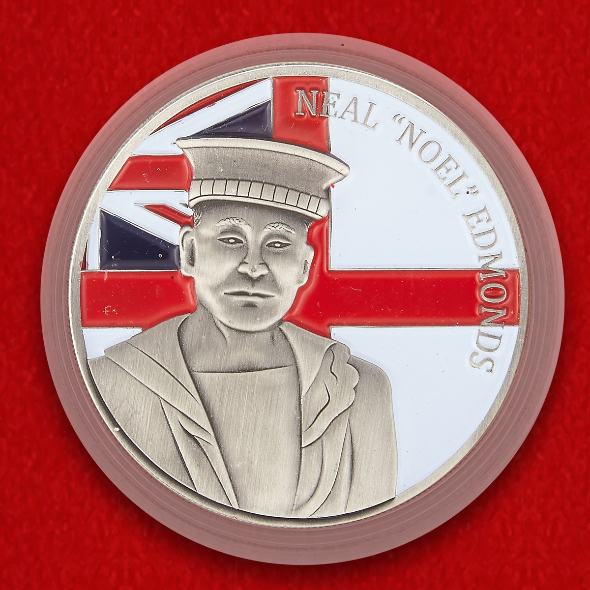 "Royal Navy Sailor Neal ""Noel"" Edmonds Memorial Challenge Coin - obverse"