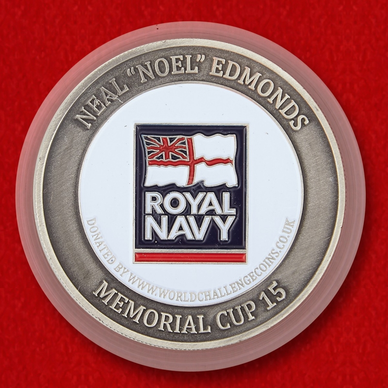 "Royal Navy Sailor Neal ""Noel"" Edmonds Memorial Challenge Coin - reverse"