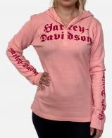 Розовая женская кофта Harley-Davidson