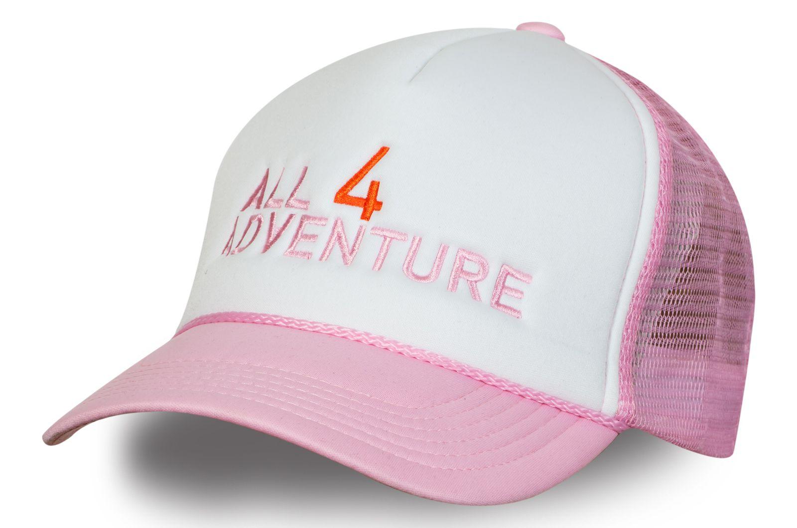 Розовая бейсболка путешественницы | Купить женскую бейсболку