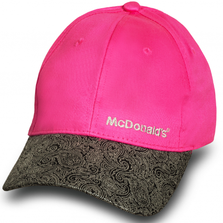 Розовая бейсболка McDonalds.