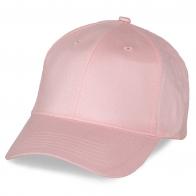 Розовая бейсболка под рекламные слоганы