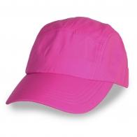 Розовая бейсболка-пятипанелька под термоперенос