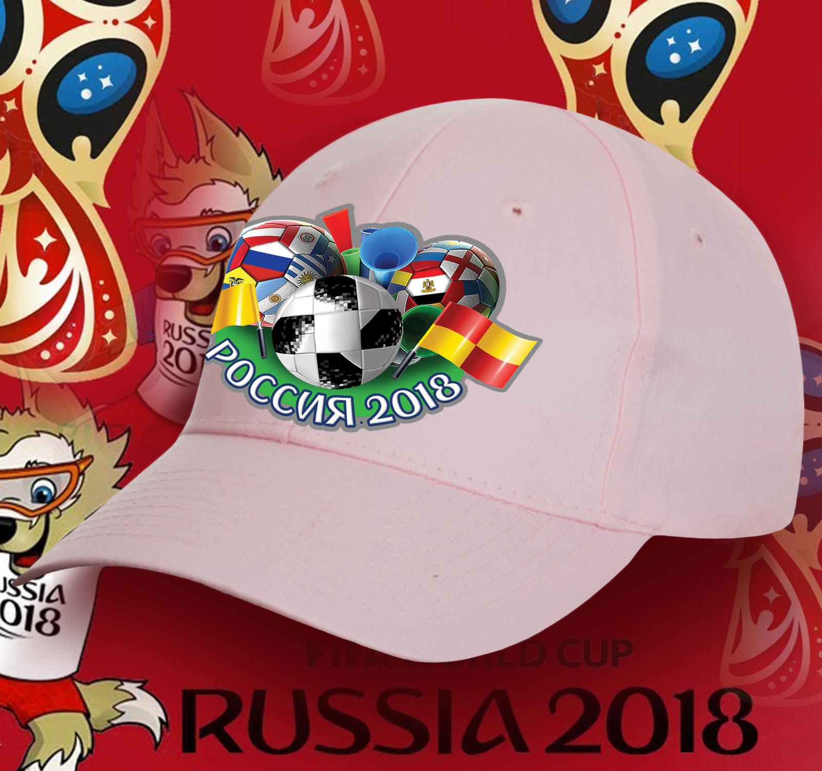 Розовая бейсболка Россия.