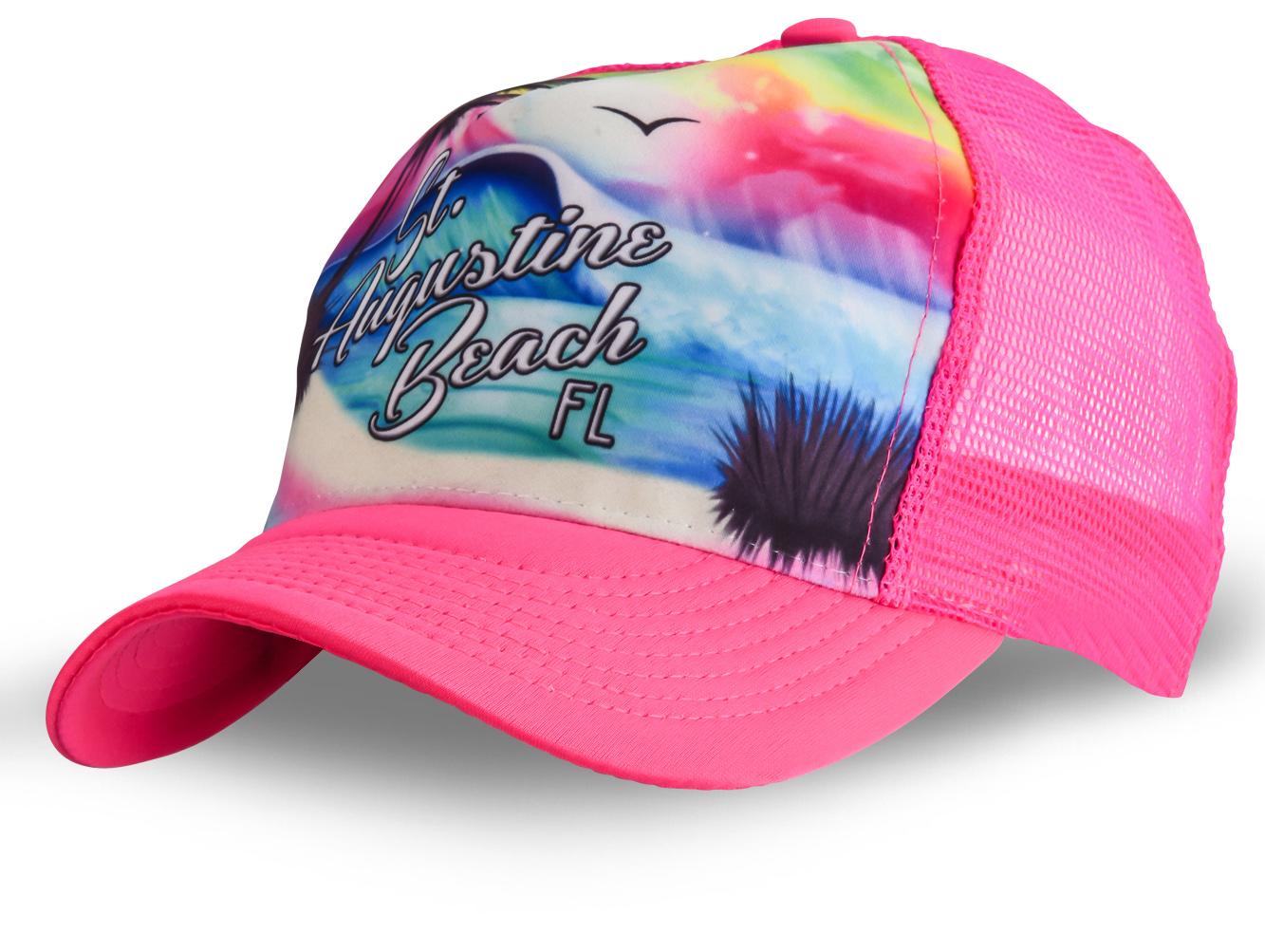 Розовая бейсболка с сеткой - купить в интернет-магазине с доставкой
