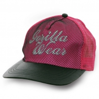 Розовая бейсболка с сеткой Gorilla Wear