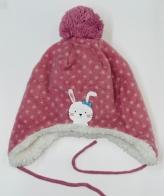 Розовая детская шапка Topomini на меху