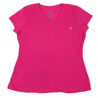 Розовая футболка Body Glove с кармашком. Натуральный хлопок