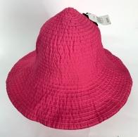 Розовая летняя панама особого кроя