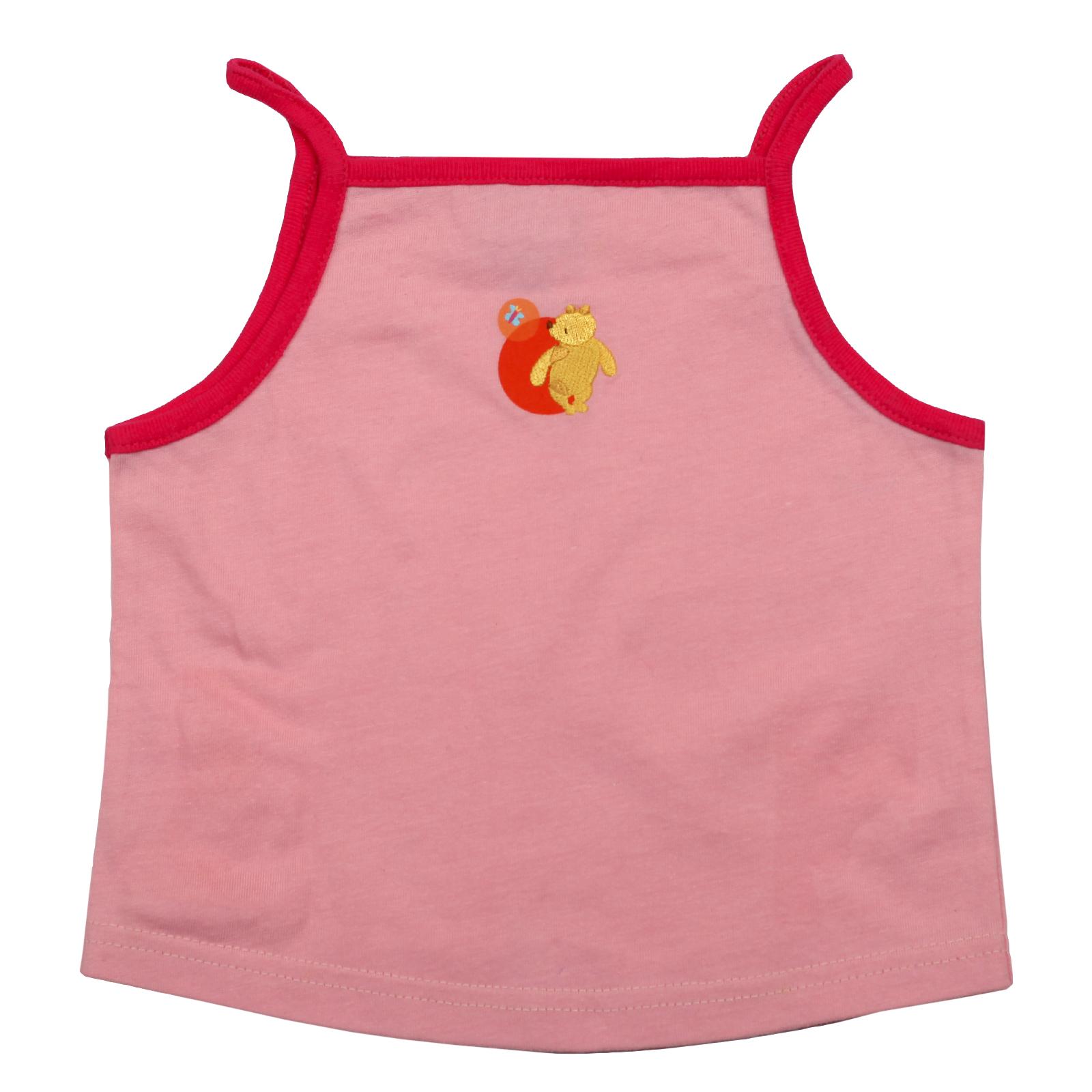 Розовая маечка для девочки. 100% натуральная ткань