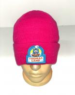 Розовая шапка с паровозиком Томасом