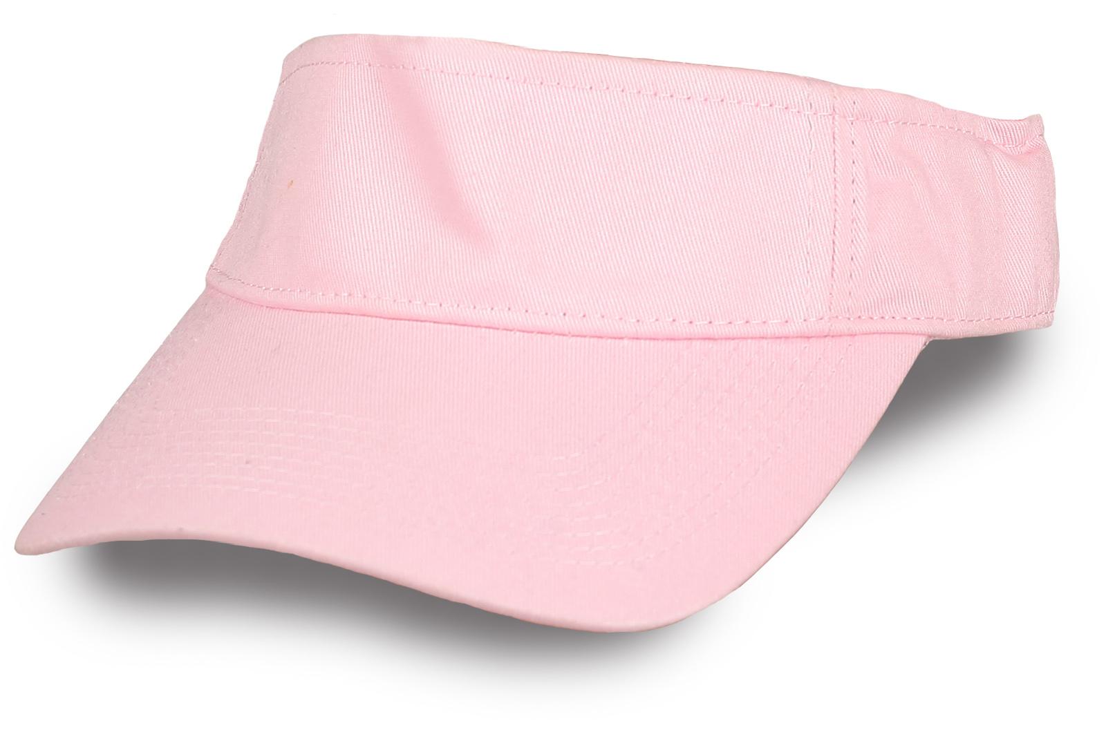 Розовая теннисная кепка