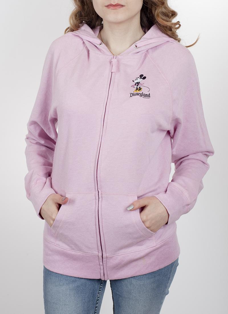 Розовая женская толстовка на молнии от ТМ Disney Parks. Контрасты снова в моде! Сочетай с чем хочешь: джинсы, юбки, штаны, леггинсы. В любом случае – ты в выигрыше!