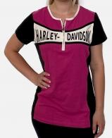 Розово-черная женская футболка Harley-Davidson