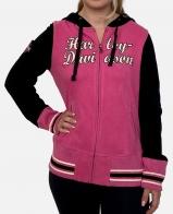 Розово-черная женская толстовка Harley-Davidson