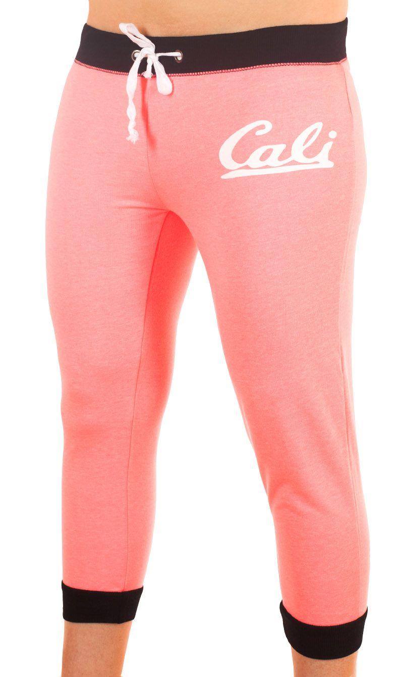 Розовые брючки капри Coco Limon для фитнес-тренинга - вид спереди