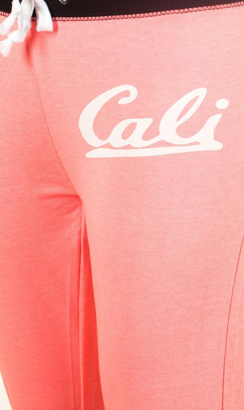 Розовые брючки капри Coco Limon для фитнес-тренинга - принт