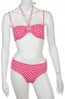 Розовый с белым купальник бандо от Olympia.