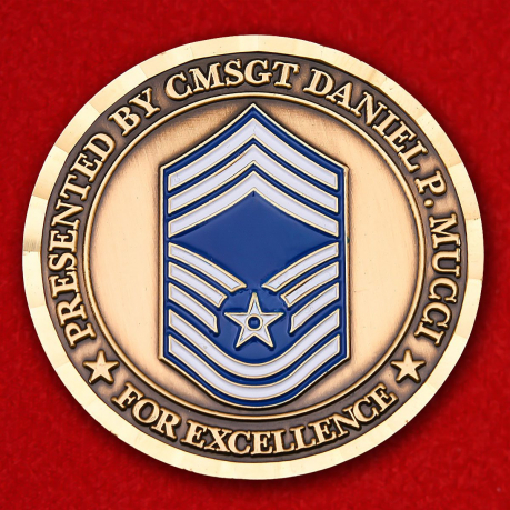 Рresented By CMSGT Daniel P. Mucci 143D Civil Engineer Challenge Coin