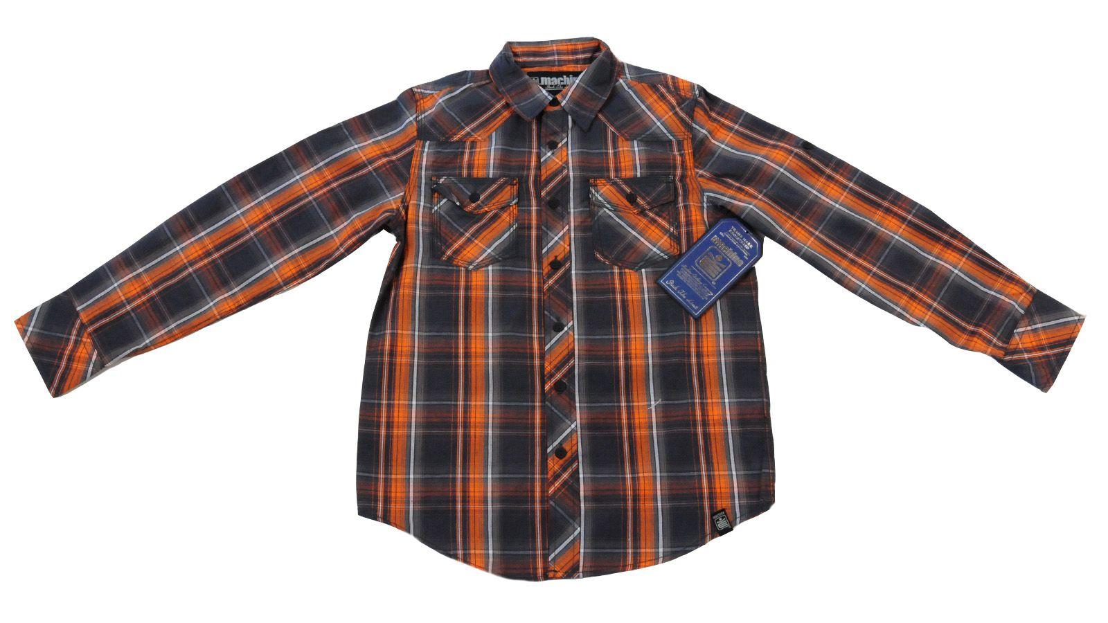 Рубашка брендовая для детей и подростков Machine-вид спереди