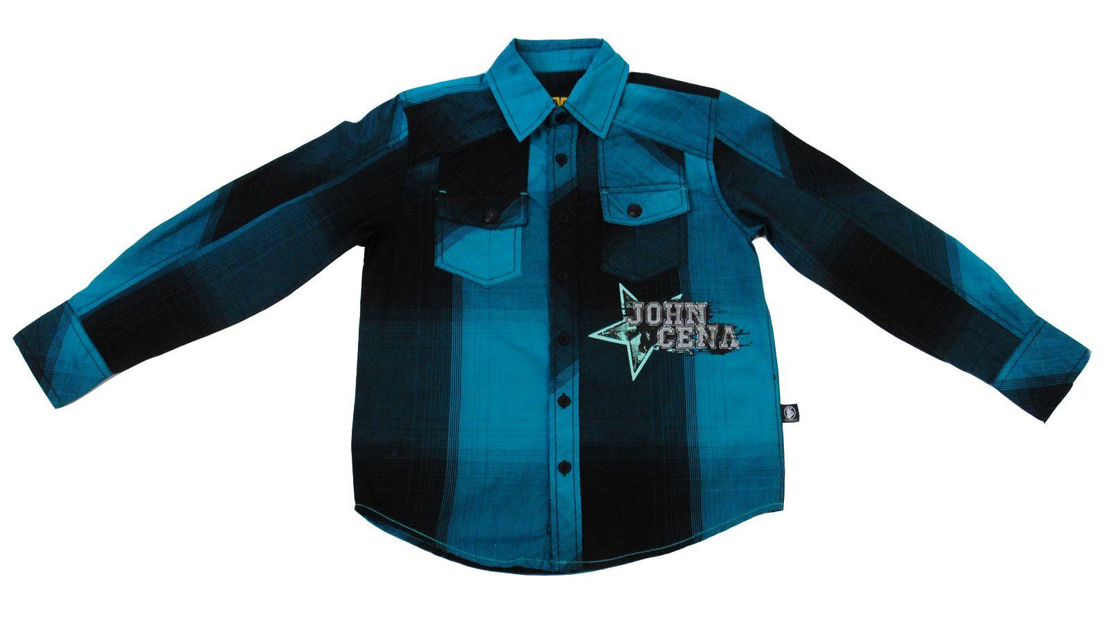 Рубашка для мальчиков от американского бренда Jhon Cena Never give up-вид спереди