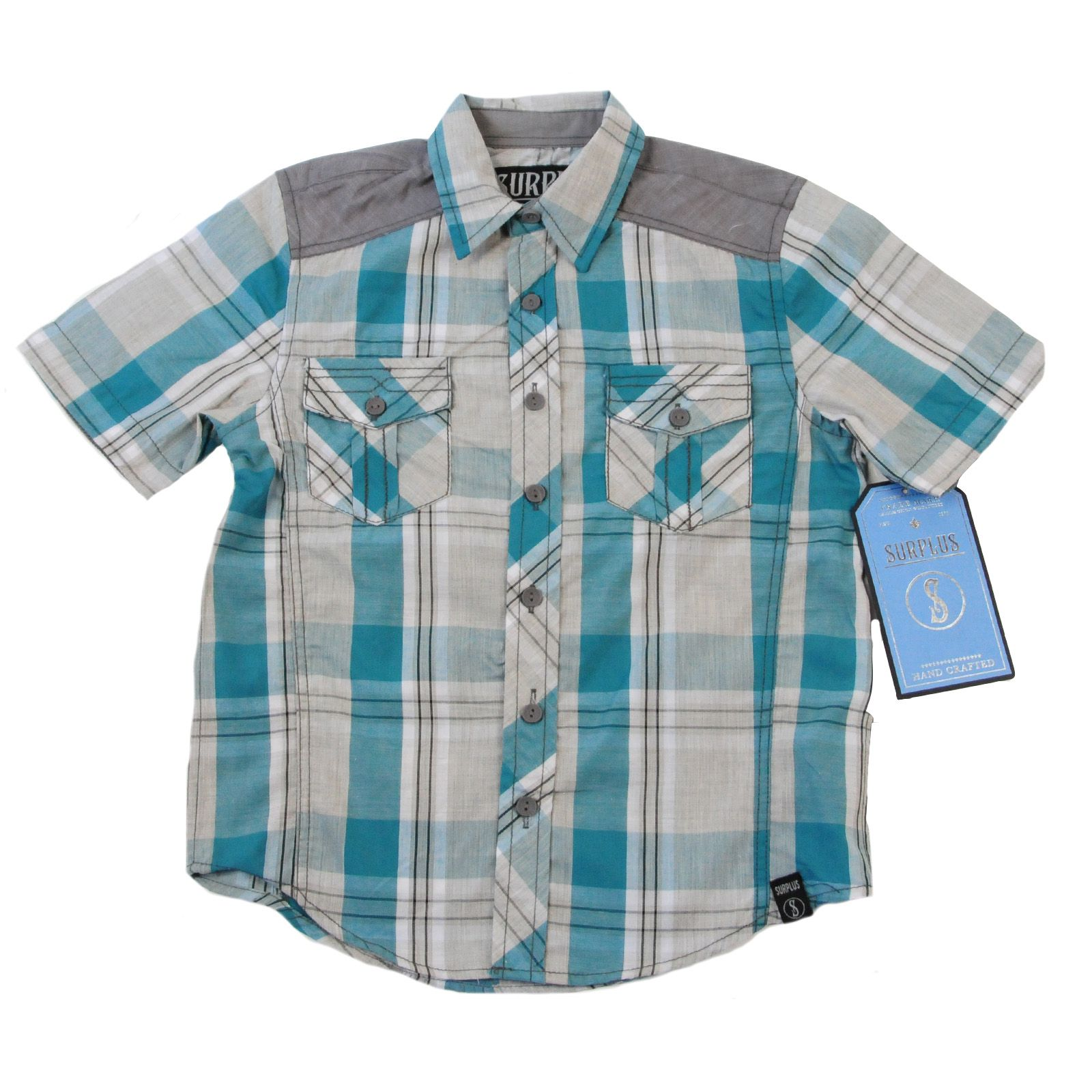 Рубашка для мальчиков от немецкого бренда Surplus-вид спереди