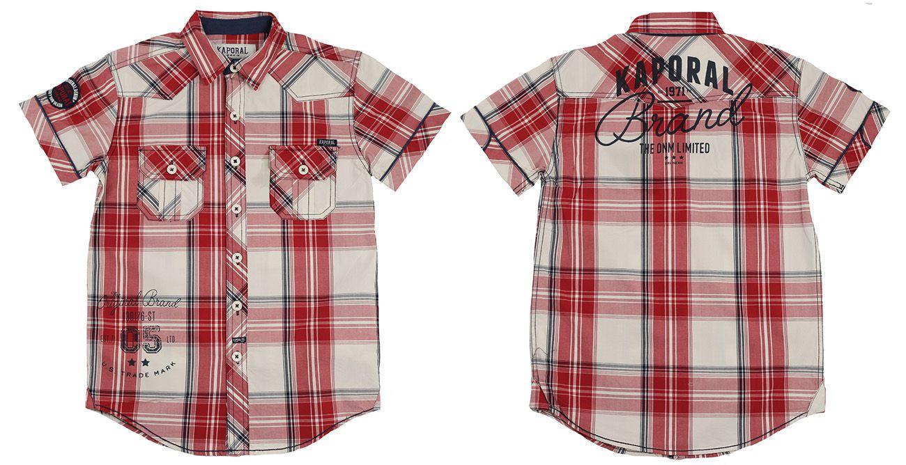 Рубашка для мальчиков в стиле casual от Kaporal (Франция)-двойная