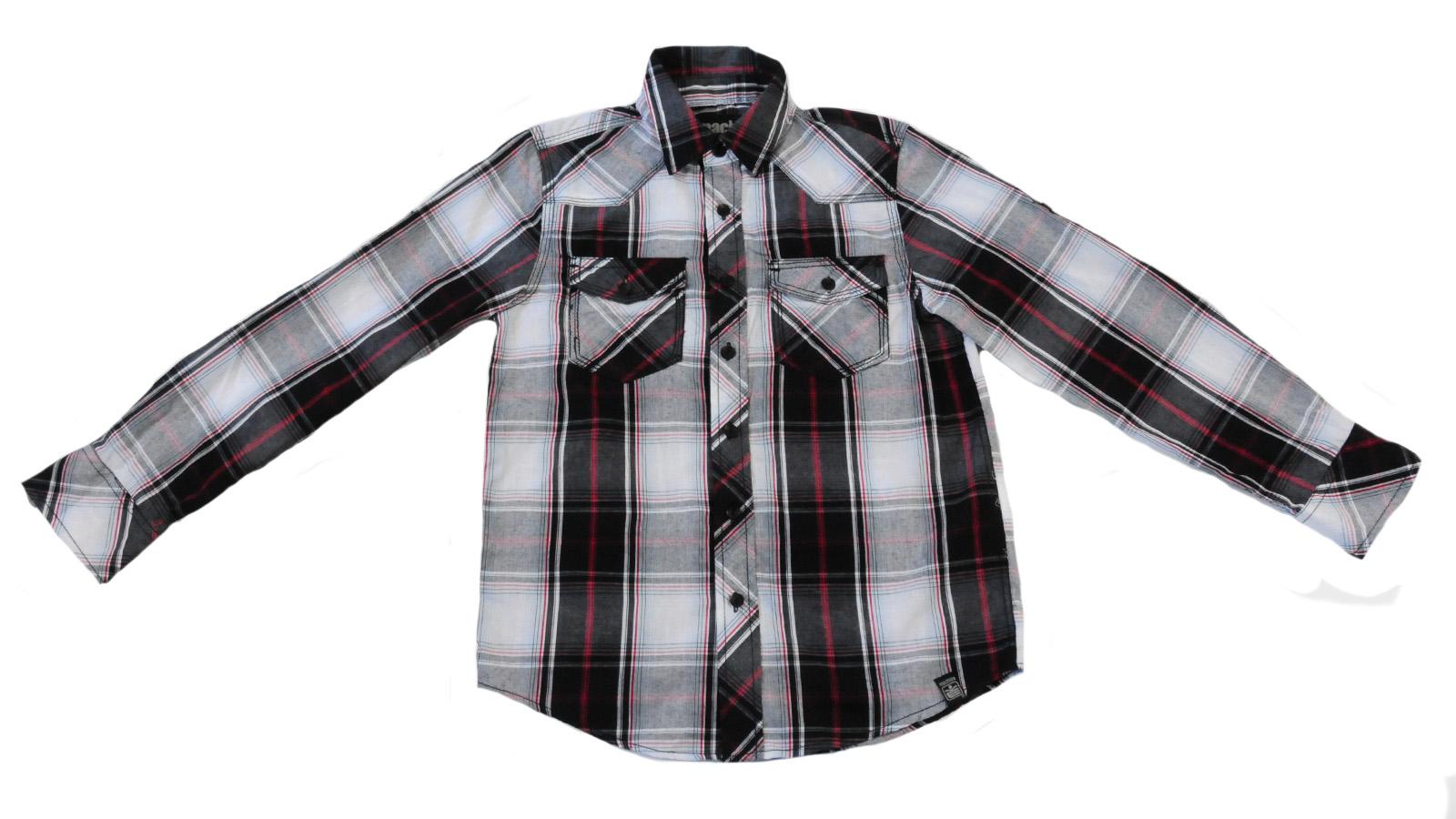Рубашка клетчатая от Kity для мальчиков вид спереди