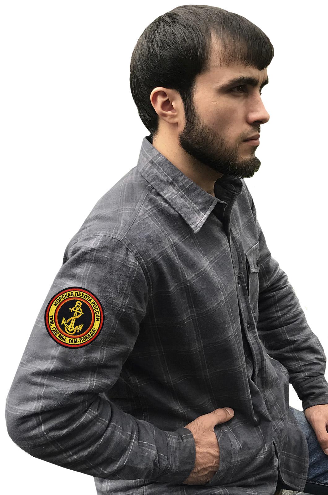 Клетчатая мужская рубашку «Морская пехота»
