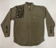 Рубашка мужская Mossy Oak с камуфляжной вставкой на плече
