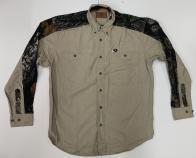Рубашка мужская Mossy Oak с камуфляжными вставками на плечах и рукавах