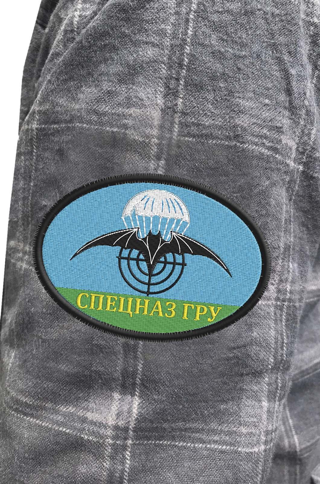 Рубашка мужская с нашивкой Спецназ ГРУ купить оптом
