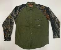 Рубашка оливковая мужская Mossy Oak с камуфляжными рукавами